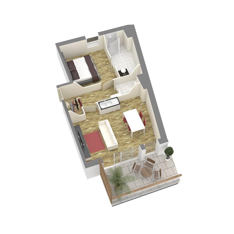 ATELIER 3D Graphiste Immobilier Vannes Axo T2 1