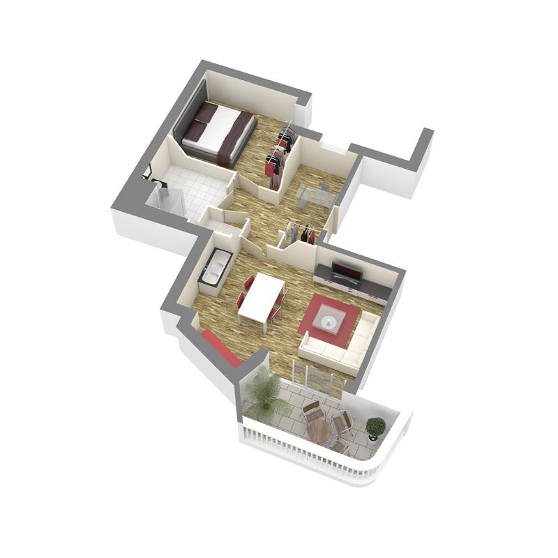 ATELIER 3D Graphiste Immobilier Vannes Axo T2 RDC 01