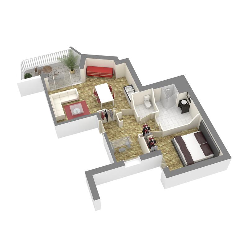 ATELIER 3D Graphiste Immobilier Vannes Axo T2 RDC 02