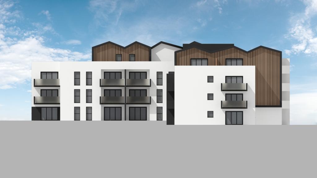 ATELIER 3D Graphiste Immobilier Vannes Bezidel Bouygues Lot 40 Elevation Sud Ouest