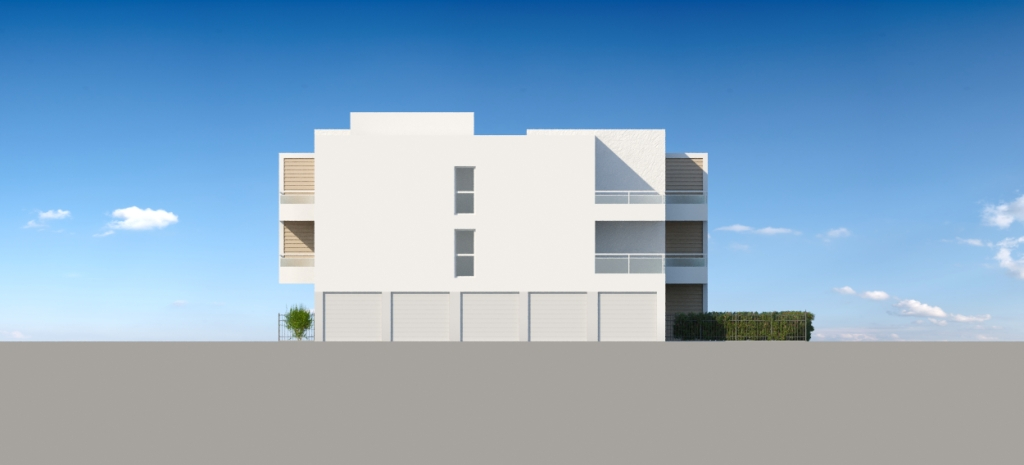 ATELIER 3D Graphiste Immobilier Vannes Bezidel Promogim Batiment B Elevation Ouest
