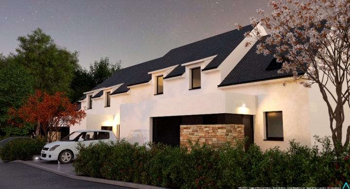 ATELIER 3D Graphiste Immobilier Vannes Brech Villa Verde Nuit 2k