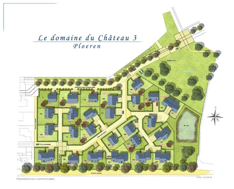 ATELIER 3D Graphiste Immobilier Vannes Le Château 3 Plan Masse