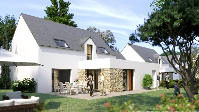 ATELIER 3D Graphiste Immobilier Vannes Maisons De La Plage Maison2 2K