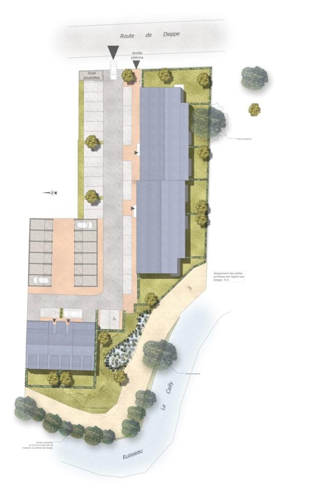 ATELIER 3D Graphiste Immobilier Vannes ND DE BONDEVILLE PLAN MASSE