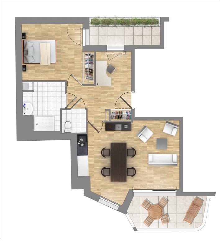 ATELIER 3D Graphiste Immobilier Vannes T2 Rdc Collectif 1